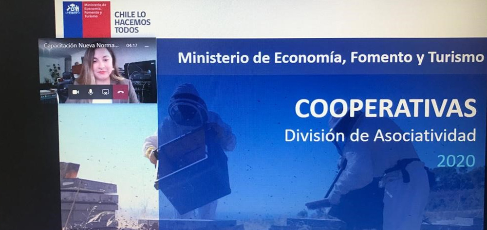 División de Asociatividad presente con capacitaciones en línea en todo Chile
