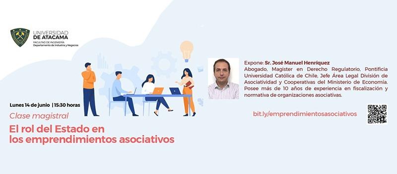 División de Asociatividad y Cooperativas invita a clase magistral de Emprendimientos Asociativos